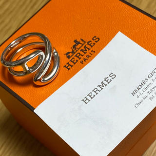 Hermes - エルメス シェーヌダンクル パンク ツイスト リング 指輪 SV