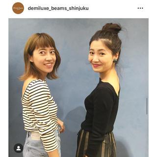 デミルクスビームス(Demi-Luxe BEAMS)のDemi-Luxe BEAMS♡バックオープントップス(カットソー(長袖/七分))