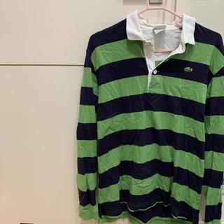 ラコステ(LACOSTE)のLACOSTE ワンポイントボーダーラガーシャツ(ポロシャツ)