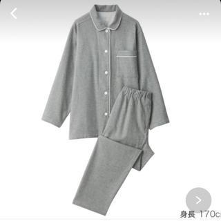 MUJI (無印良品) - 無印良品脇に縫い目のない フランネルパジャマ 婦人M・グレー