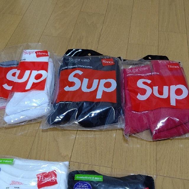 Supreme(シュプリーム)のsupreme hanes creaw socks 靴下 メンズのレッグウェア(ソックス)の商品写真