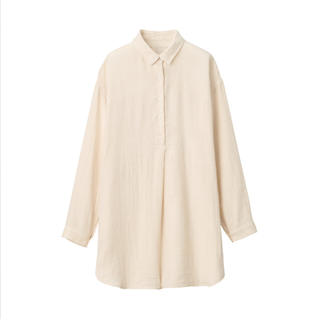 MUJI (無印良品) - 無印良品綿ヘンプ二重ガーゼチュニック 婦人M~L・生成
