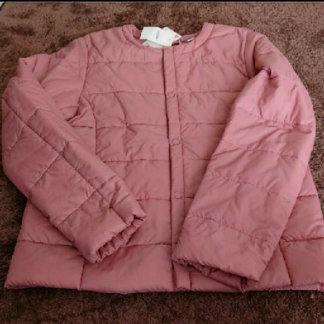 UNIQLO(ユニクロ)のユニクロ ライトウォームパデット  コンパクトジャケット 140サイズ ピンク  キッズ/ベビー/マタニティのキッズ服女の子用(90cm~)(ジャケット/上着)の商品写真