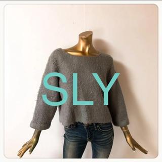 SLY - ☘T3162☘SLY 厚手 シンプル ニット 1