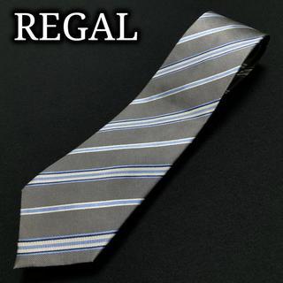 リーガル(REGAL)のリーガル レジメンタル グレー ネクタイ ナロータイ A103-U29(ネクタイ)