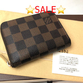 LOUIS VUITTON - 正規品 ルイヴィトン ダミエ ミニジッピー ウォレット コンパクト財布