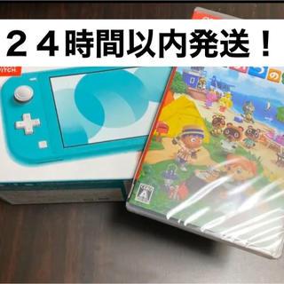 Nintendo Switch - Switch Lite ターコイズ どうぶつの森 セット 本体