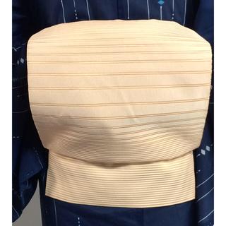 正絹 絽綴れ 横段模様織出し名古屋帯
