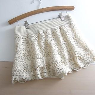 アングリッド(Ungrid)の⚫Ungrid⚫ アングリッド レース編みミニスカート F ♪(ミニスカート)