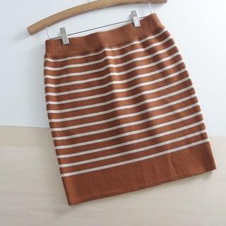 アングリッド(Ungrid)の美品 ⚫Ungrid⚫ アングリッド ボーダーニットミニスカート F ♪(ミニスカート)
