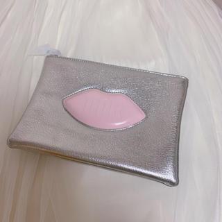 Dior - Dior ポーチ ノベルティ シルバー リップ柄