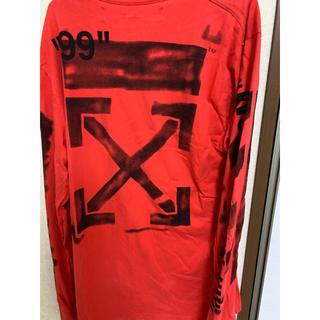 OFF-WHITE - 早い者勝ち!!off-white 19ss 赤ロンT tシャツ オフホワイト
