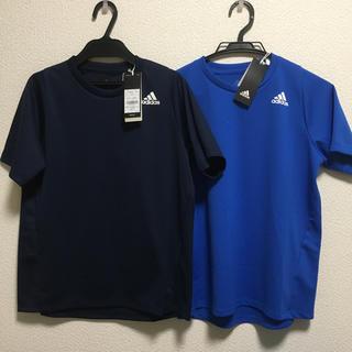 adidas - 新品 アディダス 半袖Tシャツ 2枚セット まとめ売り 160 ブルー ネイビー