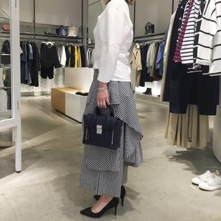 ENFOLD - エンフォルド ギンガムチェック スカートパンツ