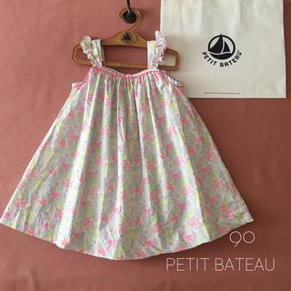 PETIT BATEAU - PETIT BATEAUプチバトー*̩̩̥フレンチ蛍光ピンク*:ワンピース୨୧