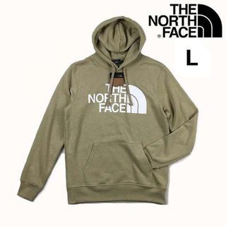 THE NORTH FACE - ノースフェイス ハーフドームロゴ パーカー (L)ベージュ 181130