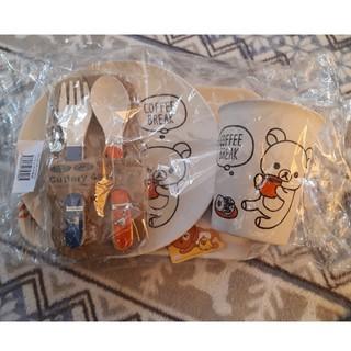 サンリオ(サンリオ)の新品未使用 リラックマセット  コップお盆スプーンお皿フォーク(スプーン/フォーク)