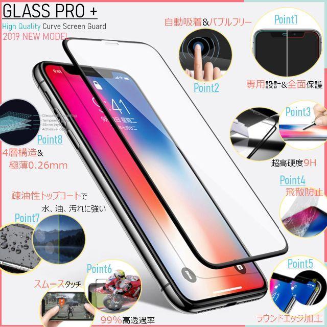 iPhone(アイフォーン)の特別セット 2枚 ガラスフィルム for iPhone X / XS スマホ/家電/カメラのスマホアクセサリー(保護フィルム)の商品写真