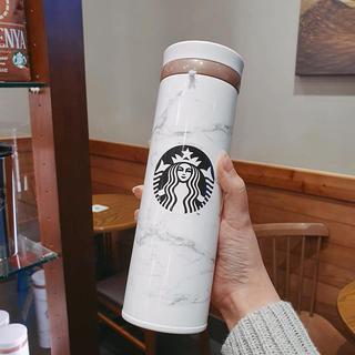 Starbucks Coffee - 韓国スターバックス★JNOマーブルホワイト保温瓶タンブラー★