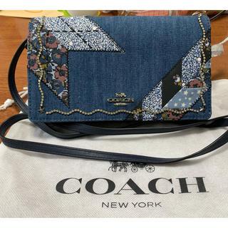 COACH - 【新品未使用】coach デニム ショルダー財布