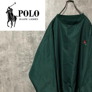 POLO RALPH LAUREN - 【激レア】ポロラルフローレン☆ワンポイント刺繍ポリエステルプルオーバー 90s