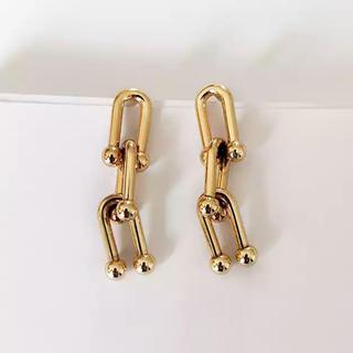 BEAUTY&YOUTH UNITED ARROWS - Triple chain gold pierce No.319