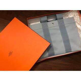 Hermes - HERMES エルメス トートバッグ ボラボラ PM ブルー キャンバス 箱付き