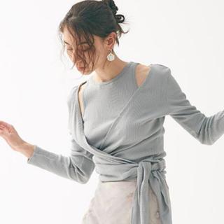snidel - 完売色🌷新作新品🍀スナイデル  ORGANICSカシュクールトップス