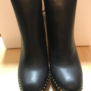moussy - moussy マウジー  wooden heel boots サボブーツ 黒 S