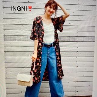 INGNI - ❤️美品❣️INGNI 花柄ロングカーディガン❤️