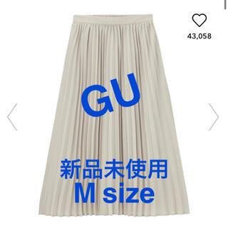 GU - 新品未使用 GU ジーユー プリーツミディスカート グレー