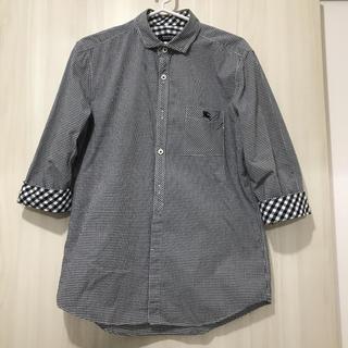 BURBERRY BLACK LABEL - バーバリーブラックレーベル チェックシャツ 七分袖