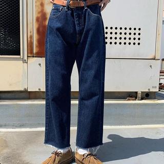 リーバイス(Levi's)の美品 Levi's 505 濃紺 リーバイス カットオフ テーパードジーンズ(デニム/ジーンズ)