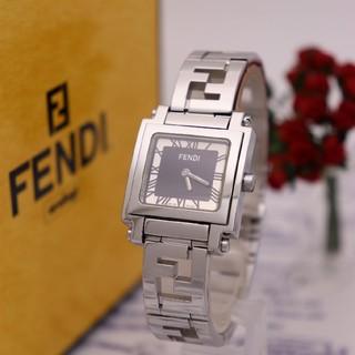 FENDI - 正規品【新品電池】FENDI 6000L/スクエア ブラック ズッカ柄