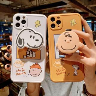 3D立体フィギュア スヌーピー&チャーリーiPhone11ケース