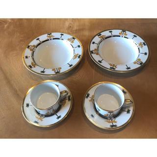 クリスチャンディオール(Christian Dior)のクリスチャンディオール コーヒーカップ&ソーサー&お皿セット(食器)
