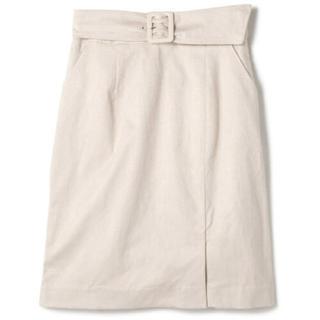 PROPORTION BODY DRESSING - プロポーションボディドレッシング フェイクスエードサッシュタイトスカート