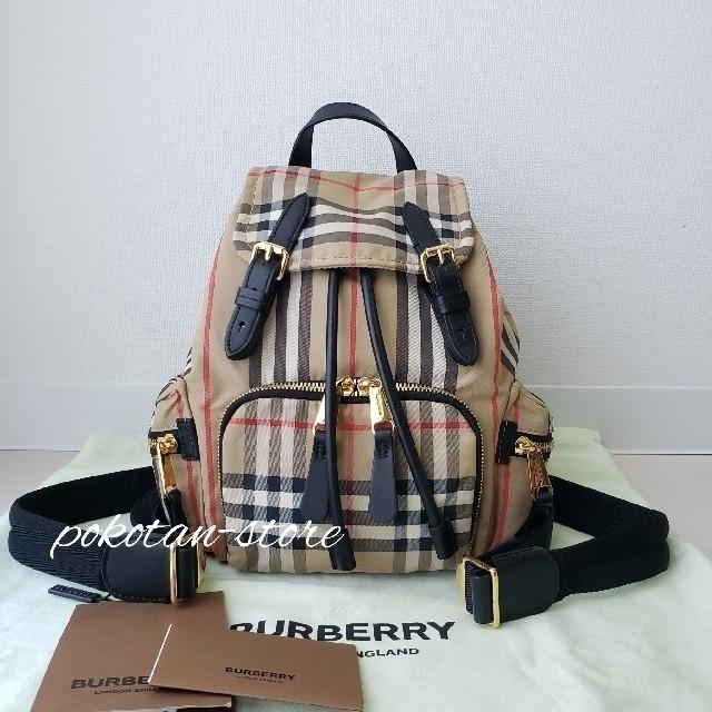 BURBERRY(バーバリー)の極美品【バーバリー】ヴィンテージチェック スモール バックパック リュックサック レディースのバッグ(リュック/バックパック)の商品写真