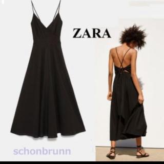 ZARA - ZARA バックリボン キャミワンピース