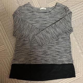 シューラルー(SHOO・LA・RUE)の裾異素材切り替えニット シューラルー(ニット/セーター)