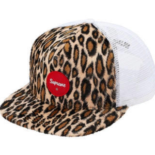 Supreme - Supreme Leopard Mesh Back 5-Panel  White