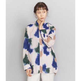 BEAUTY&YOUTH UNITED ARROWS - 人気完売品 4/9まで限定値下げ BY ハンドペイント風プリントシャツ