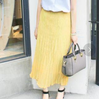 IENA - IENA プリーツスカート イエロー 黄色 ロングスカート