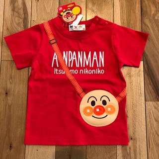 アンパンマン - 新品 アンパンマン ポシェット風  半袖 Tシャツ 100センチ 赤 男女兼用
