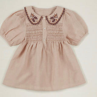 Caramel baby&child  - 2020ss apolina ENID BLOUSE - PINK SAND