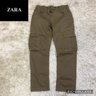 ザラ(ZARA)の✔︎美品 ZARA サルエル風 カーゴパンツ ザラ カーキ(ワークパンツ/カーゴパンツ)