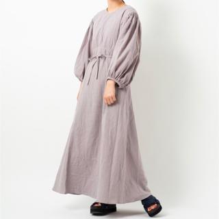 Kastane - 【美品】カスタネ パステルカラー 七分袖コットンワンピース