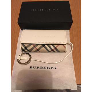 BURBERRY - バーバリー Burberry レザー×キャンバス キーケースリング付き 未使用