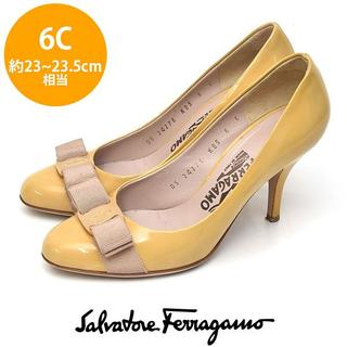 Salvatore Ferragamo - フェラガモ ヴァラリボン エナメル パンプス 6C(約23-23.5cm)