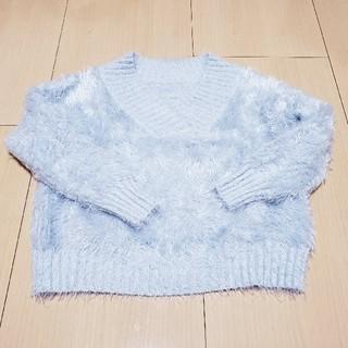 CECIL McBEE - セシルマクビー ショート丈 ニット セーター グレー Mサイズ